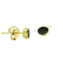 Small Stud Onyx Earrings – E13115
