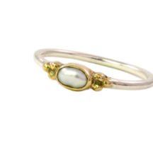 Skinny Oval Pearl Ring – R1592