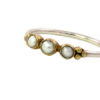 Skinny ring with pearl R1613