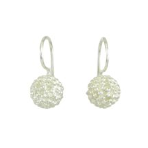Dotted Silver Ball Earrings – E1756