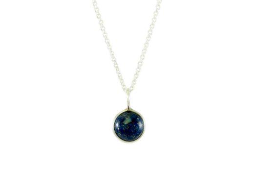 Ronde hanger lapis lazuli