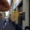 filigree shaped earrings moonstone E1930