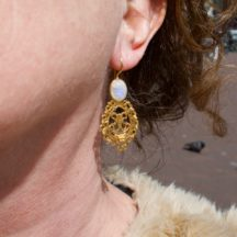 Filigree Shaped Earrings Moonstone E1930