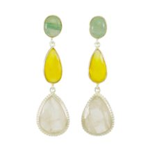 Special Piece Jade, Yellow Onyx And Rose Quartz – E1323