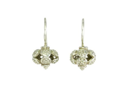 Etruskische open ball earring E9531