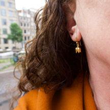Tiny Small Tulip Earrings E1921